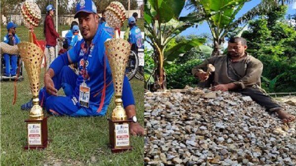 পেটের দায়ে পাথর ভাঙছে ভারতীয় ক্রিকেটার